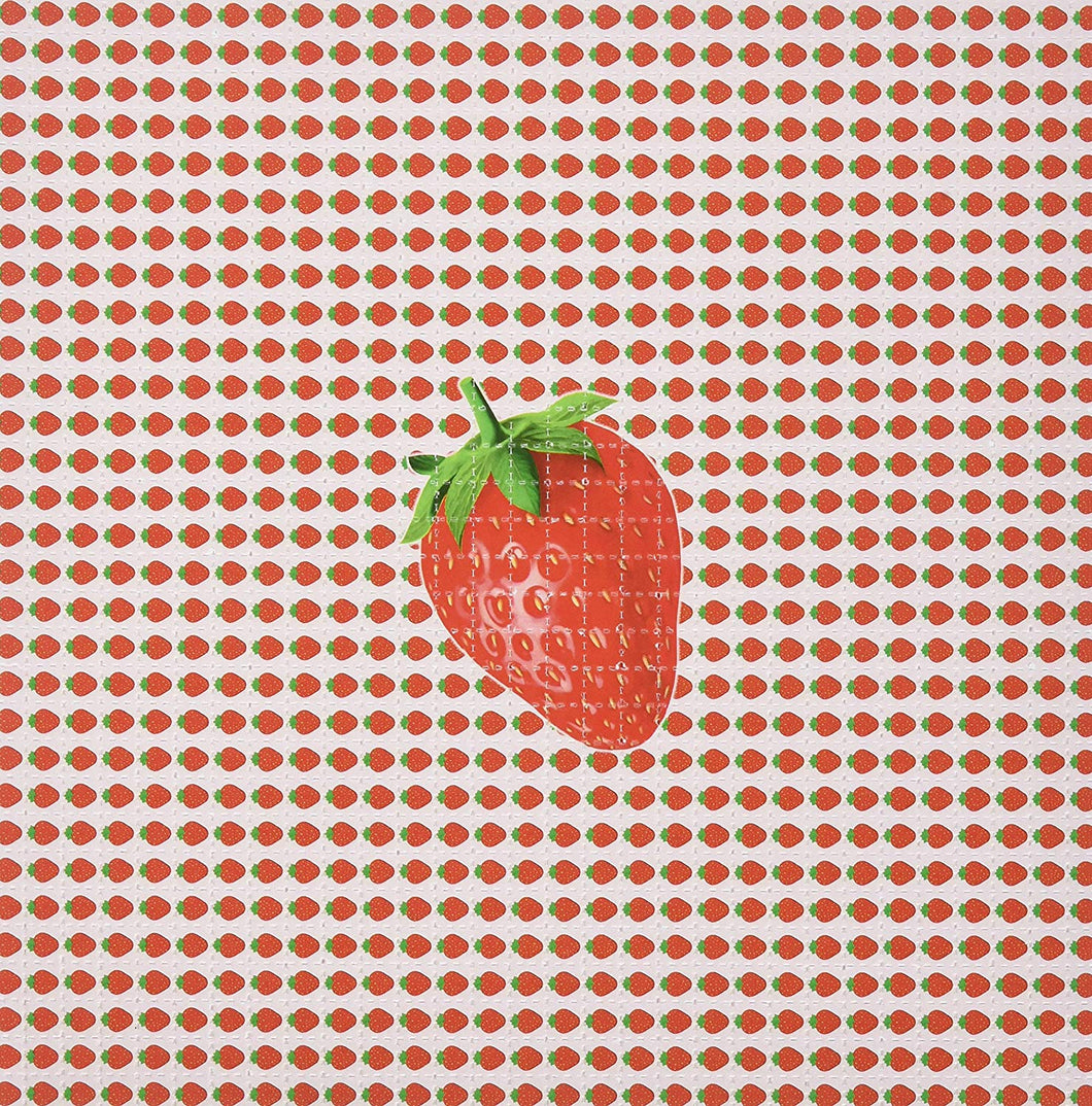 Psychedelic Blotter Art Print perforated sheet/paper 30x30 - Strawberry Design