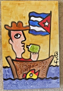 Jose Fuster Authentic Cuban Tile Painting 9