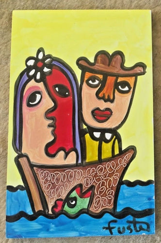 Jose Fuster Authentic Cuban Tile Painting 14