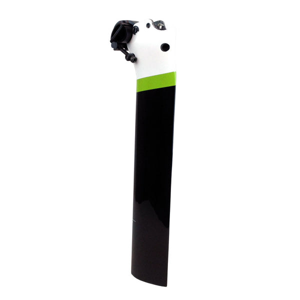 Cannondale Slice Aero Carbon Seatpost - Black White and Green