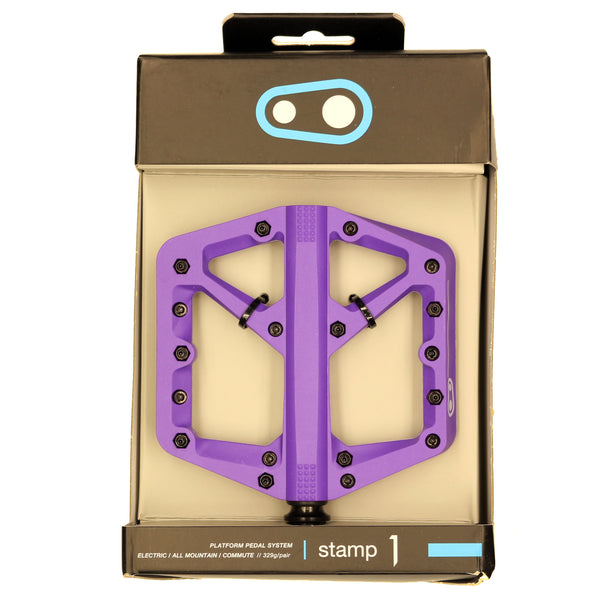 Crank Brothers Stamp 1 Small Platform Pedals, Purple