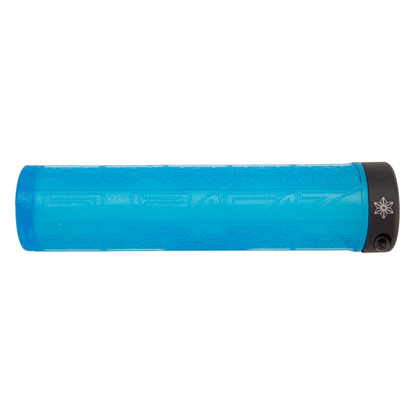 SUPACAZ Grizips Lock-On Grips Neon Blue Clear/Black