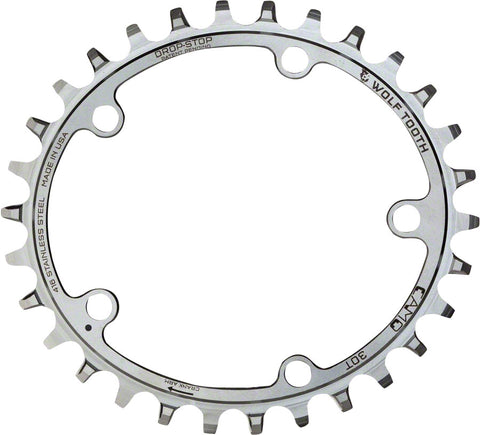Wolf Tooth Components CAMO Stainless PowerTrac 30T Chainring