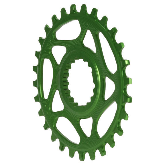 Absolute Black Cannondale Hollowgram Direct Mount ring, 28T - green