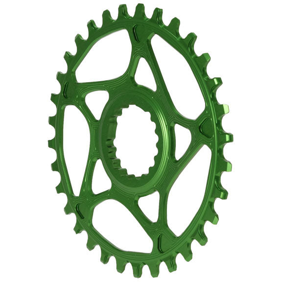 Absolute Black Cannondale Hollowgram Direct Mount ring, 32T - green