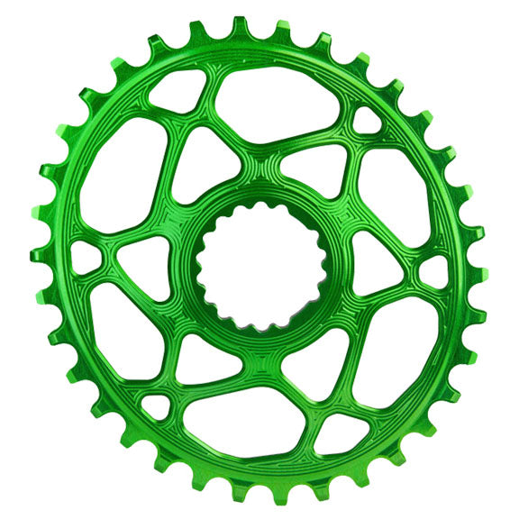 Absolute Black Cannondale Hollowgram DM oval ring, 32T - green