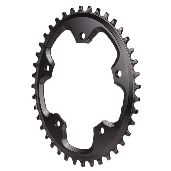 Absolute Black 5x110BCD CX 1X oval chainring, 42T - black