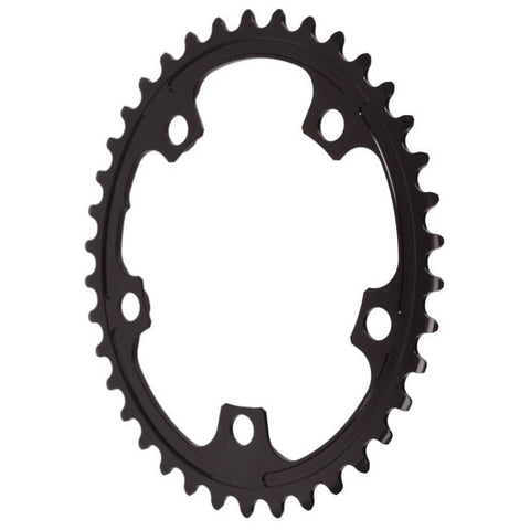 Absolute Black Premium oval road chainring, 5x110BCD 38T - black