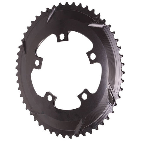Absolute Black Premium oval road chainring, 5x110BCD 52T - black
