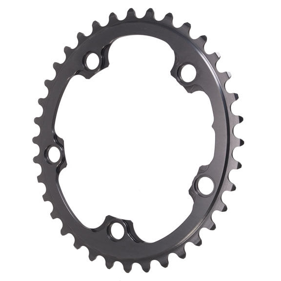 Absolute Black Winter oval road chainring, 5x110BCD 36T - grey