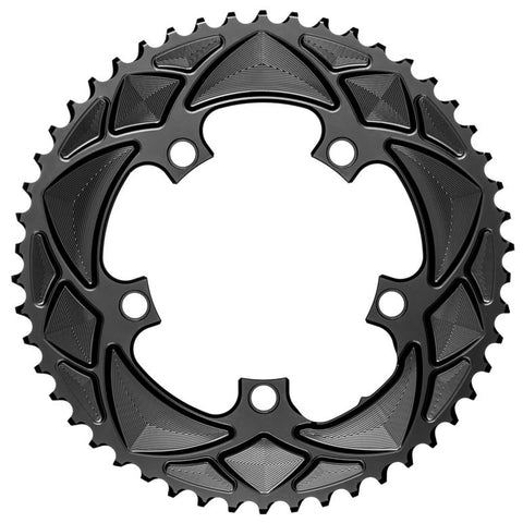 Absolute Black Round chainring, 5x110BCD 52T - black
