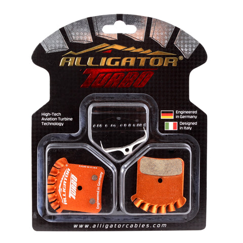 Alligator Turbo disc pads, Shimano Saint M810/820, Zee M640- Organic