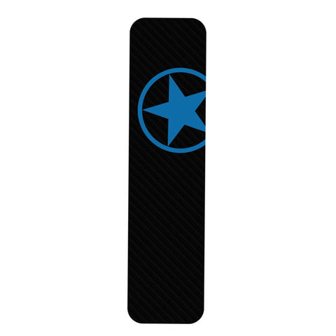 Bike Armor Tough Dome D-tube Frame Protector, Single - Blue Star