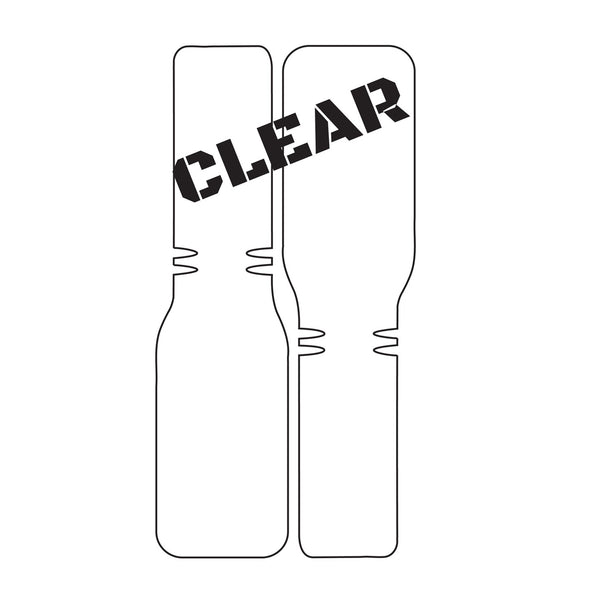 Bike Armor Bar Shield Handlebar Protector, Clear, 1 Kit