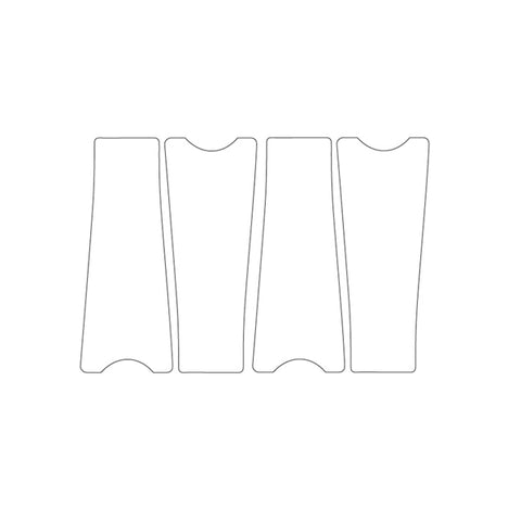 Bike Armor Crank Shield Crank Protector, Shimano, Clear, 2 Sets