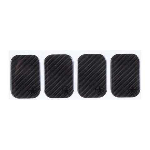 Bike Armor Tough Dome Frame Shield Frame Protectors, Carbon 4 Pack