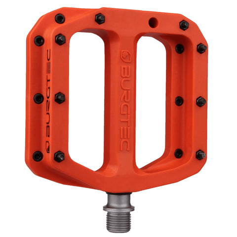 Burgtec MK4 Composite Flat Pedals - Race Red