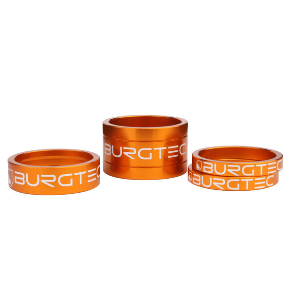 Burgtec 1-1/8 inch Headset Stem Spacer Kit - Iron Bro Orange