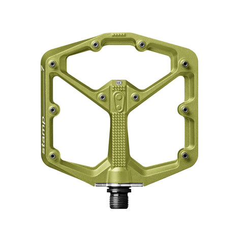 Crank Brothers Stamp 7 Large platform pedals, green
