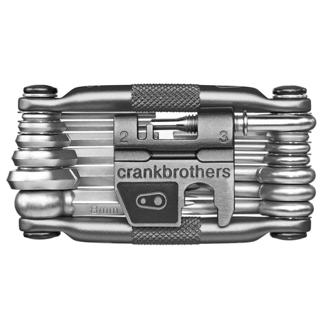Crank Brothers Multi-19 Mini Tool with Flask, Nickel