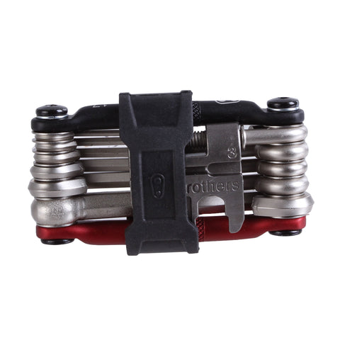 Crank Brothers Multi-17 Mini Tool, Black/Red