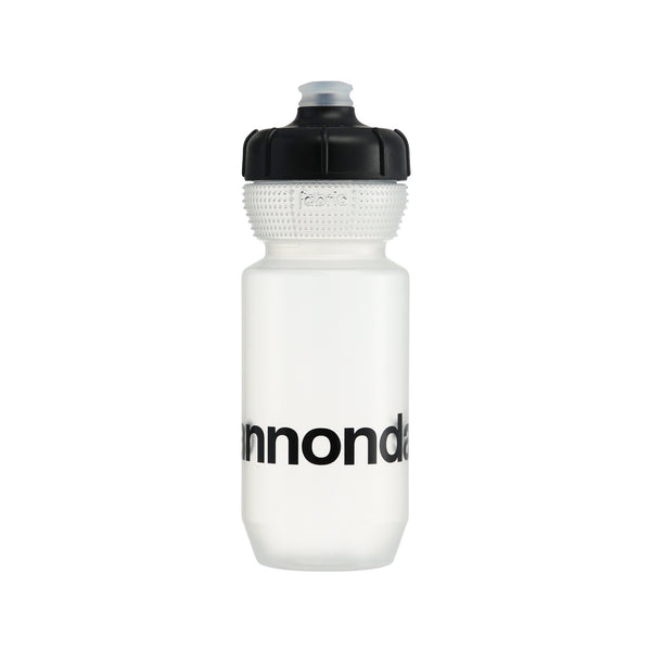 Cannondale Logo Gripper Bottle Clear + Black 600ml CP5100U0160