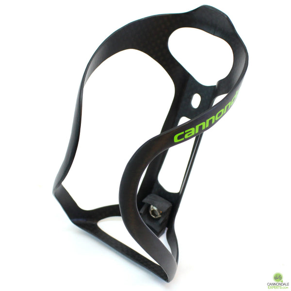 Cannondale GT40 Carbon Water Bottle Cage Carbon/Green - Only 28 Grams!