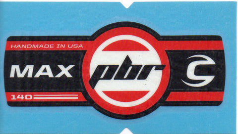 Cannondale Lefty Max PBR 140 Band Decal/Sticker Black, white, red