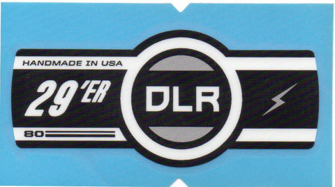 Cannondale Lefty DLR 80 29 Band Decal/Sticker Black, white, grey