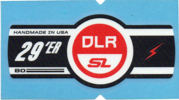 Cannondale Lefty DLR SL 80 29 Band Decal/Sticker Black white, red