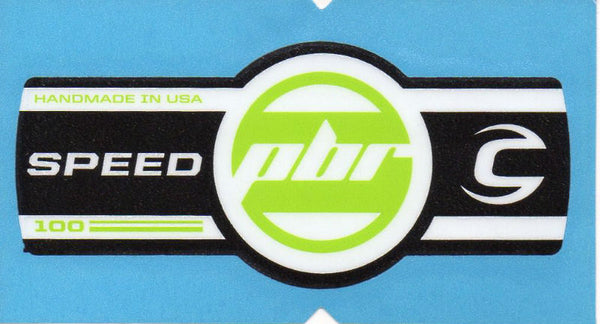 Cannondale Lefty Speed PBR 100 Band Decal/Sticker Black, white green