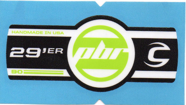 Cannondale Lefty PBR 90 29 Band Decal/Sticker Black, white, green