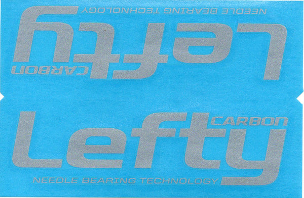 Cannondale Lefty Carbon Wrap Decal/Sticker Silver