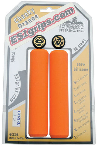 ESI 32mm Chunky Lightweight Silicone MTB Grips Orange