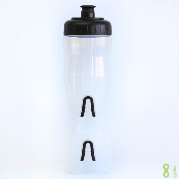 Fabric Cageless Water Bottle 750ml - Clear/Black