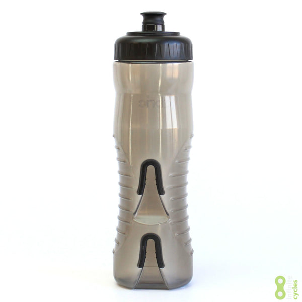Fabric Cageless Water Bottle 750ml - Black/Black