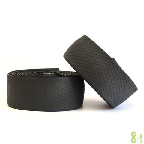Fabric Silicone Road Bike Handlebar Tape - Black