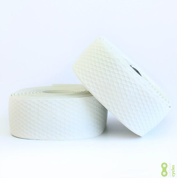 Fabric Silicone Road Bike Handlebar Tape - White