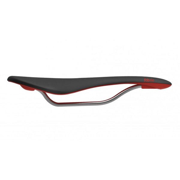 Fabric Scoop Flat Elite Saddle BLK/RED