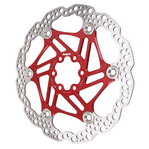 Hope Floating rotor, 140mm (floating/wave) - red