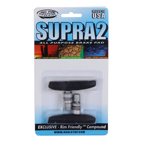 Kool Stop Supra 2 pads, threaded - black  pr