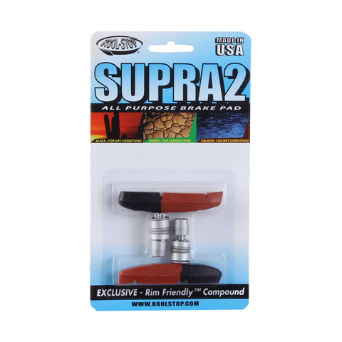 Kool Stop Supra 2 pads, threaded - dual  pr