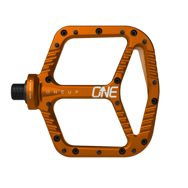 OneUp Components Aluminum platform pedals, orange