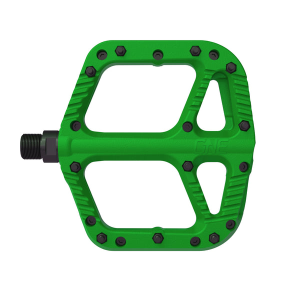 OneUp Components Comp platform pedals pair, Green