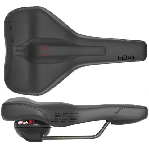 SQlab 602 Ergolux Active CrMo rail 160* saddle, blk