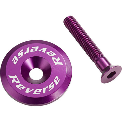 Reverse Ahead Cap with Screw, Purple