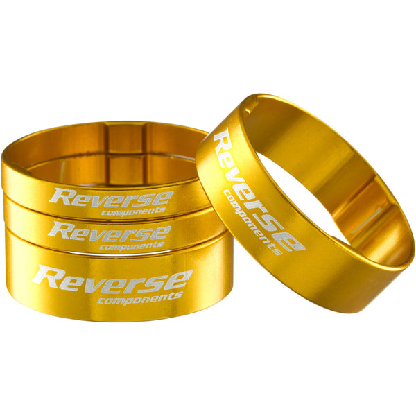Reverse Ultralight Headset Spacer Set, Set/4, Gold