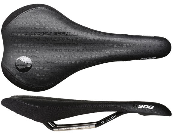 SDG Circuit MTN saddle, Ti-Alloy rail - black/black
