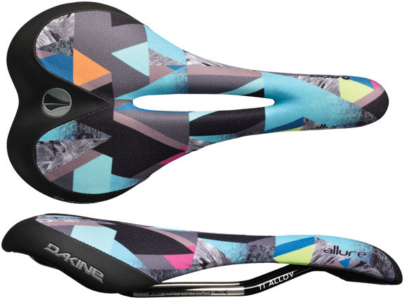 SDG Allure Dakine Co-Op saddle, Ti-Alloy rails - geo/blck