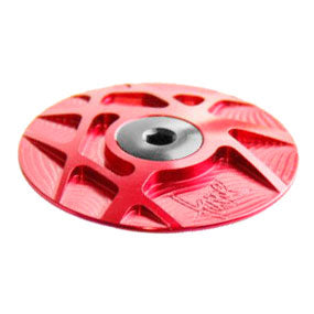 Tune Headset Cap, Alloy, Red